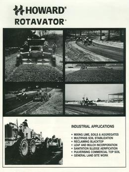 Howard Rotavator Industrial Applications Brochure