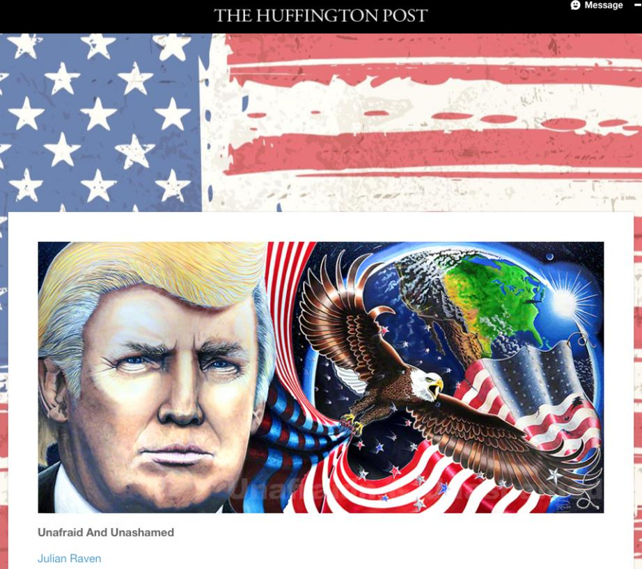 Trump Painting Trump Portrait in the Huffington Post