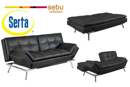 Serta Matrix Convertible Sofa by Lifestyle Solutions