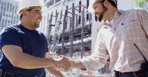 Concrete Contractor Shaking Hands with Client in Odessa, TX