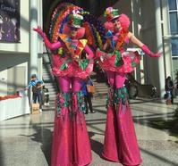 stilt walkers tall people
