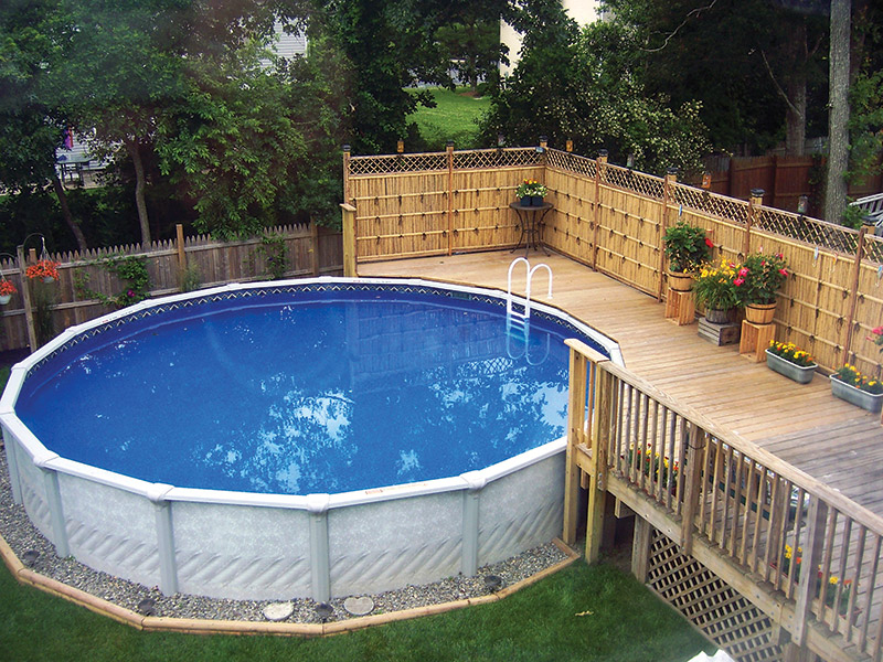 Above Ground Pool & Deck Designs