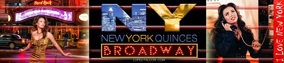 Broadway New York Quinceanera Party New York Broadway Quince Parties Theme Ideas Quinceañera Celebration Party Themes Tips for Dresses Choreography Cakes Quinces Stage & Decoration