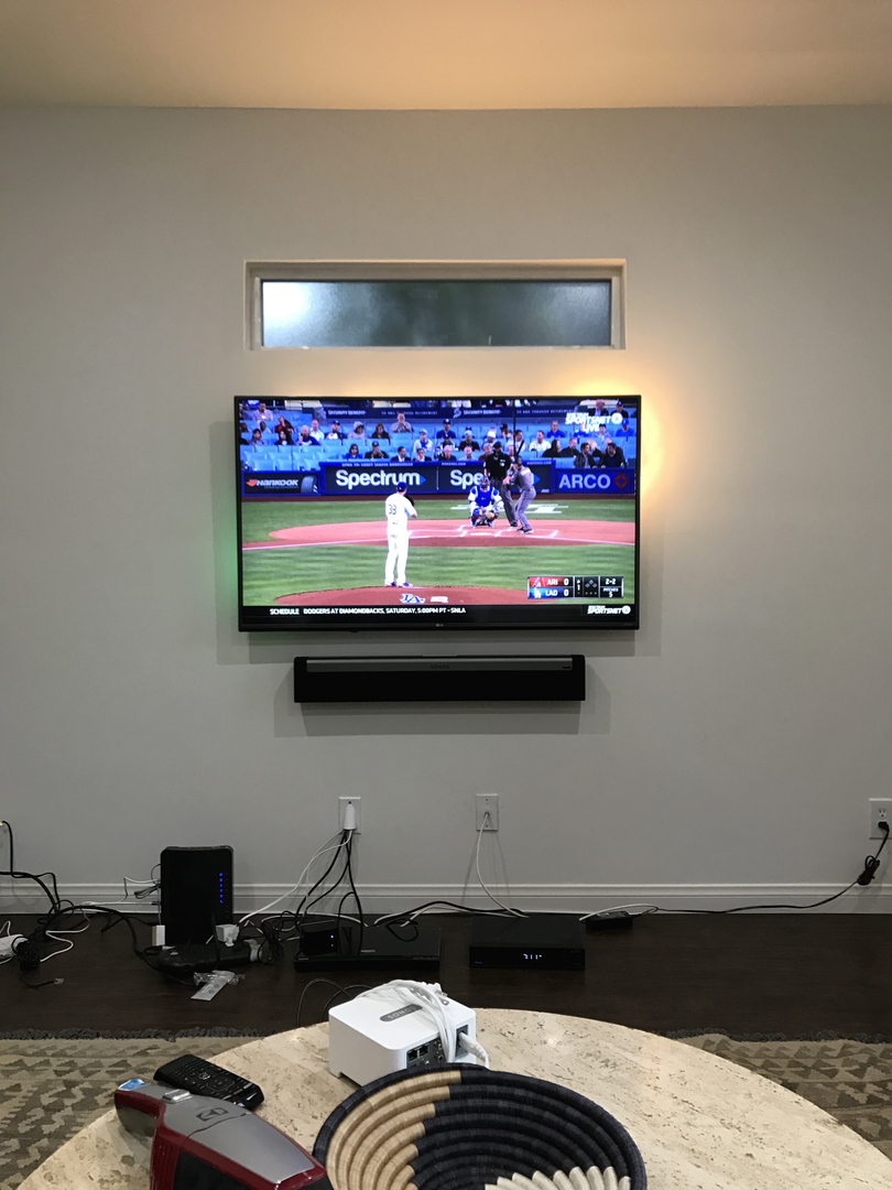 Tv Mount Installation Wall Mounting Pro Wiring Up Mounted In Hollywood
