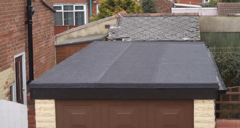 New Flat Roof To Old Concrete Sectional Garage