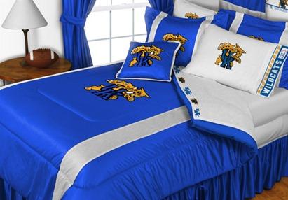 Sidelines 5pc NCAA Kentucky Wildcats KING Sidelines Comforter Sheets Bedding Set