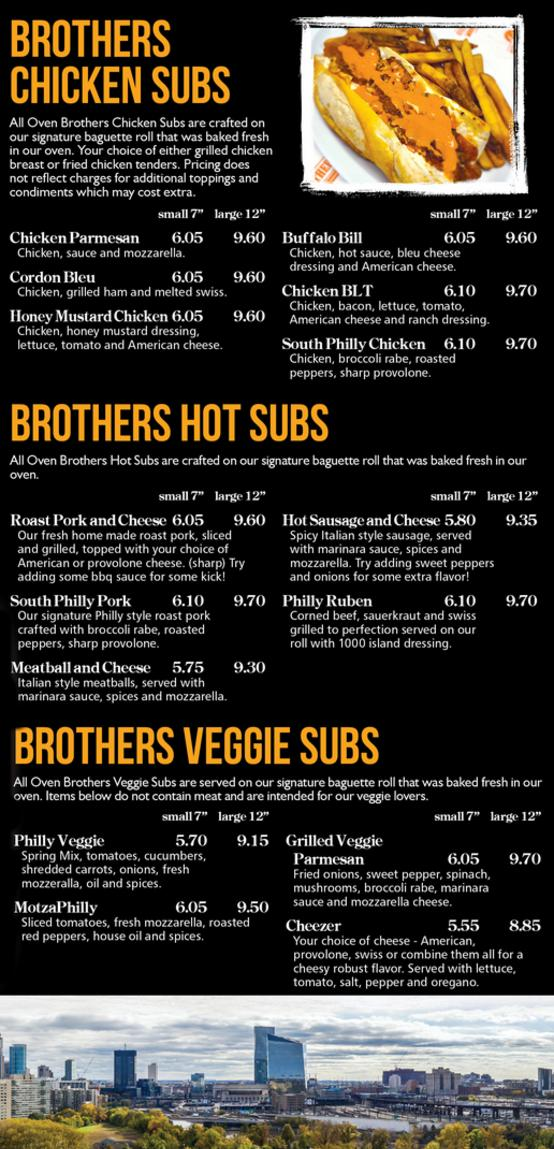 OvenBrothers Menu Page1