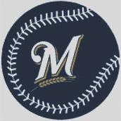 Cross Stitch Chart pattern of the Milwaukee Brewers