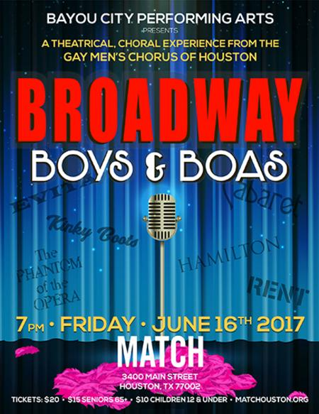 Broadway, Boys & Boas the Gay Men's Chorus of Houston