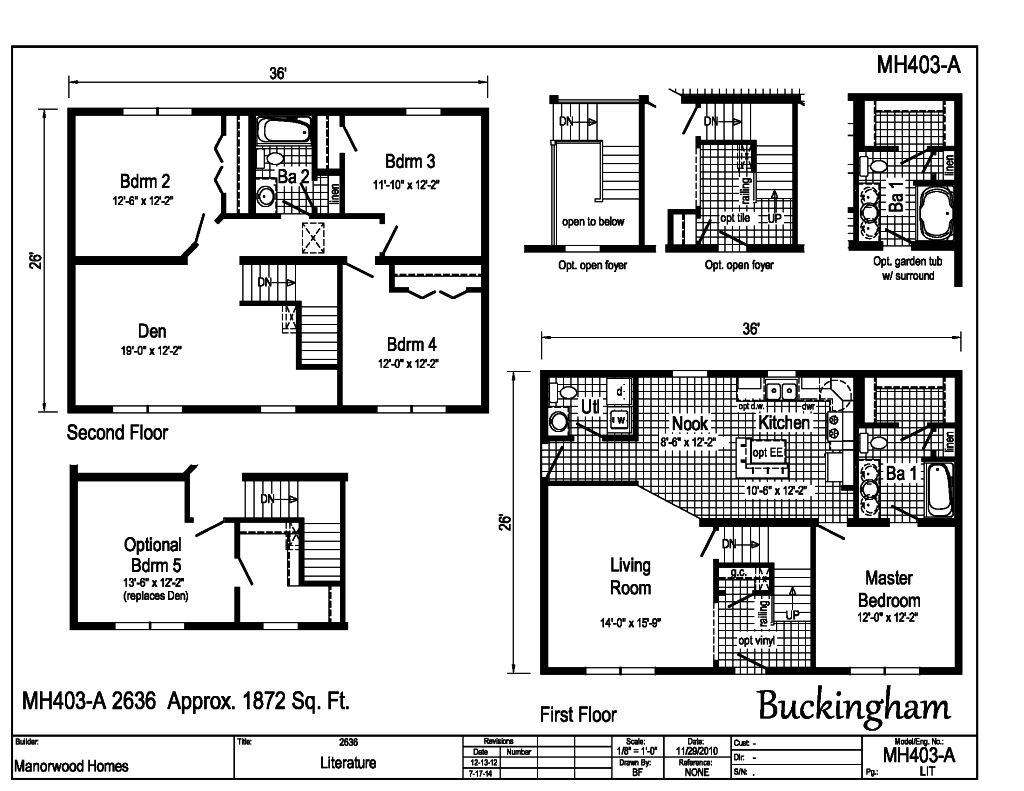 Manorwood – Manorwood Homes Floor Plans