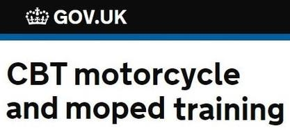 UK Government CBT motorcycle and moped training
