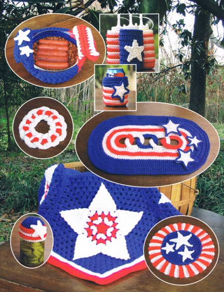 Crochet Kitchen hotpad set pattern