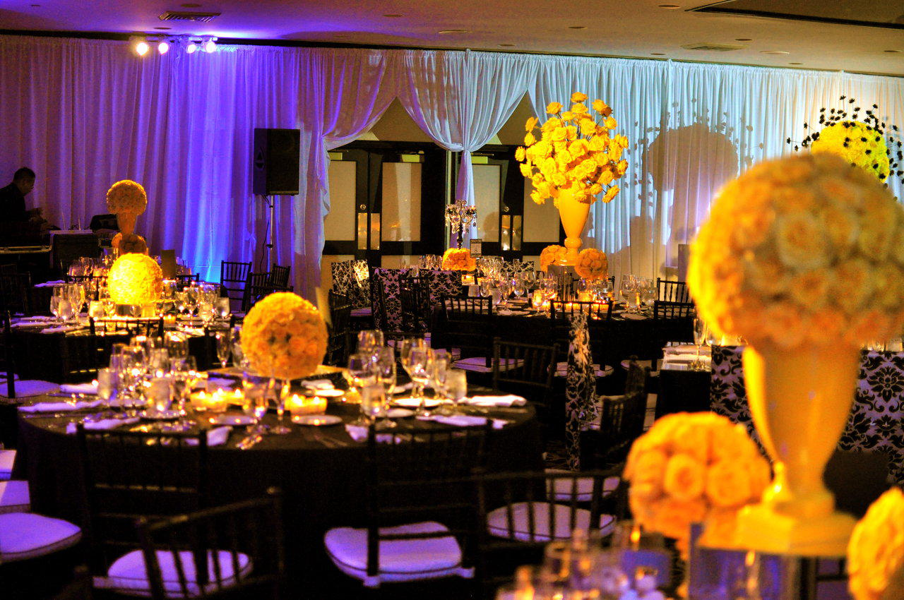 Beautiful Yellow And Black Wedding Contemporary - Styles & Ideas ...