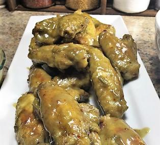 Peanut butter jalapeno jelly marinated chicken wings