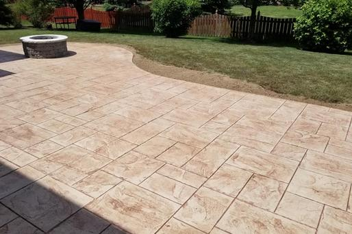 Excellent Stamped Concrete Patio Contractor and Pricing in Seward NE| Lincoln Handyman Services