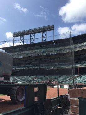 Giants Stadium - Hansen Rigging safety net behind home plate