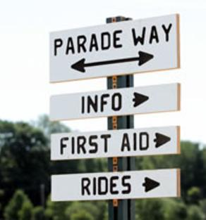 Community Event Signage, Town of St. Joe, Indiana