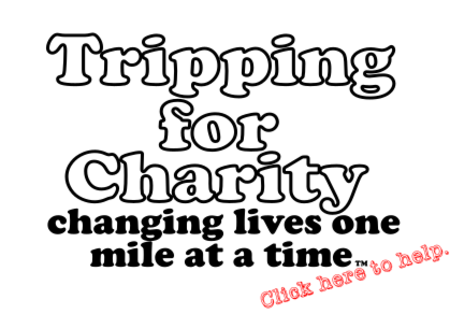 Tripping for charity. Traveling around the country to change lives.