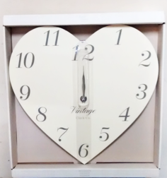 Heart Shaped Vintage Clock | The Little Flower shop Florist