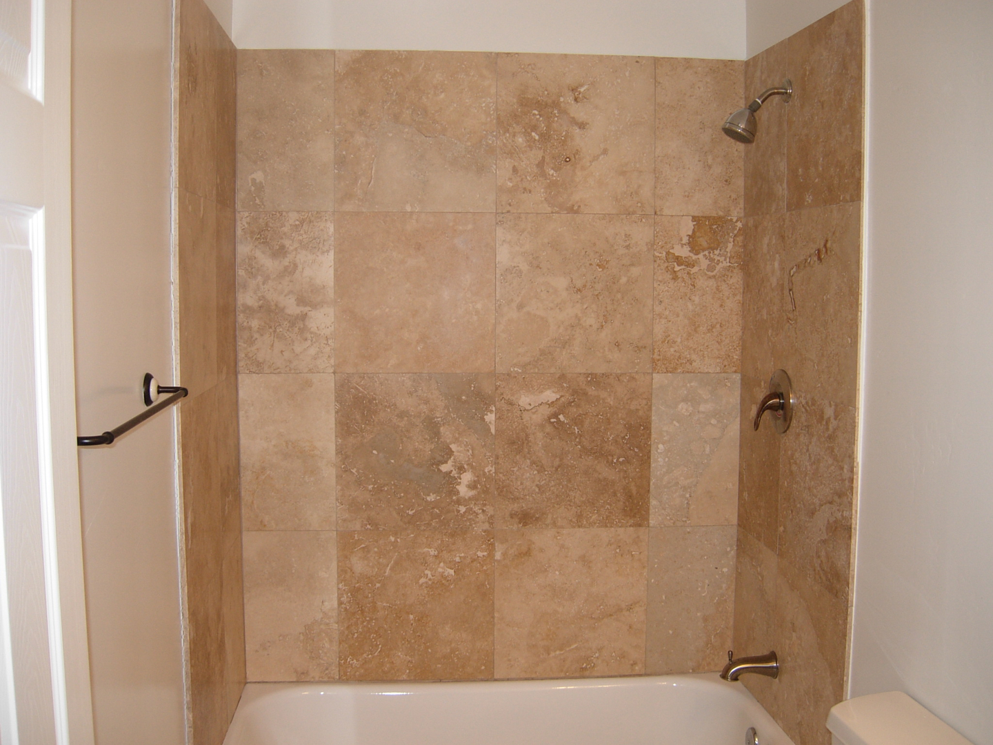Cool Tile Shower Enclosures Contemporary - Bathroom with Bathtub ...