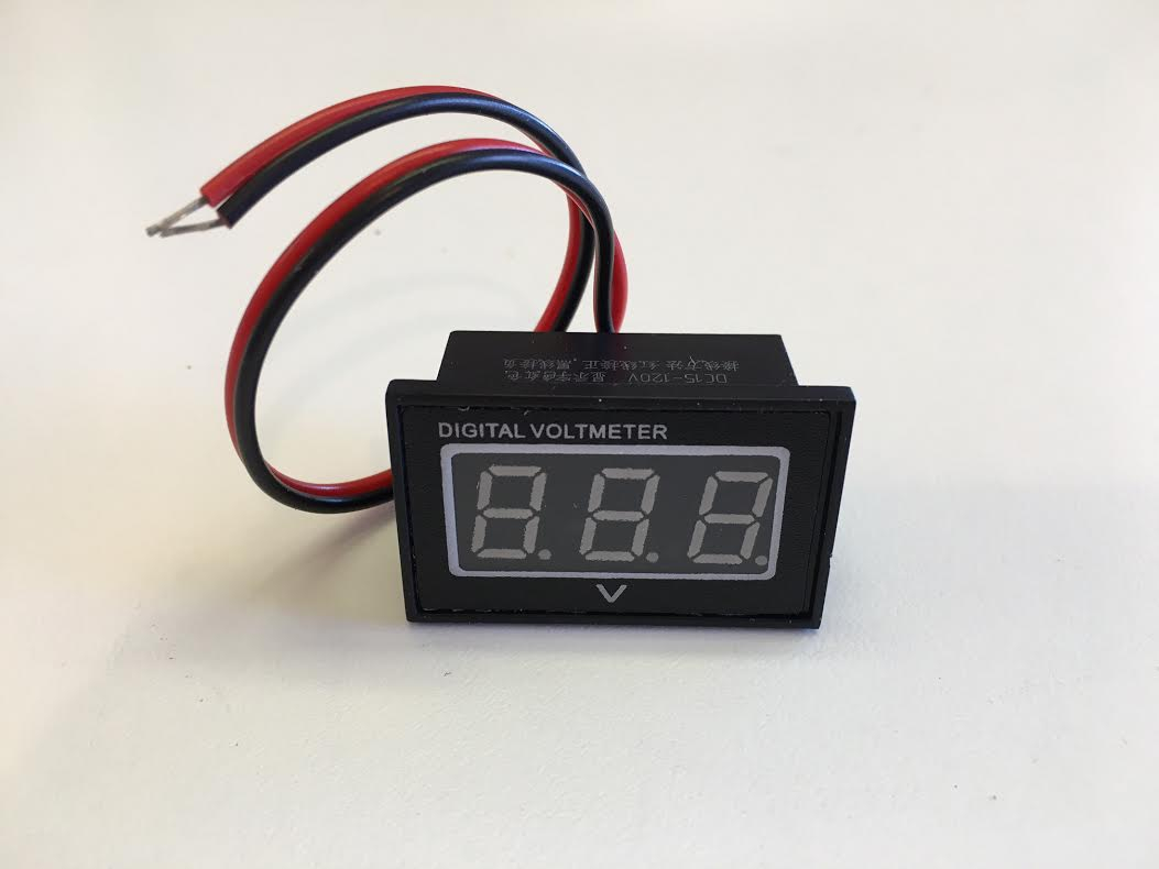 Digital Battery Meters 36v Indicator Wiring Diagram Our Test Meter Has Been On And Left Outside For Two Years Available In Red Or Blue Green 1450