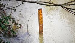 Picture of flood marker
