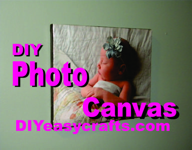 DIY Easy Mod Podge Photo Canvas Transfer crafts and projects. www.DIYeasycrafts.com