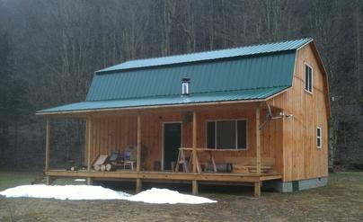 24 X 32 2 Story Gambrel With An 8 Porch