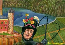 The Child Catcher in CHITTY CHITTY BANG BANG Illustration by Cliff Carson