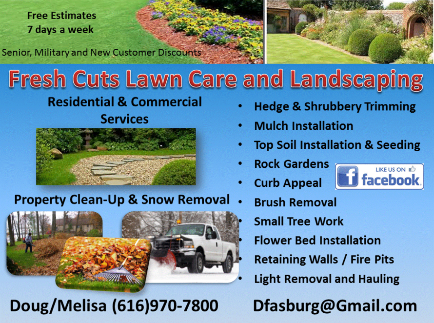 Landscaping services lawn care fresh cuts lawn care and for Lawn and garden services
