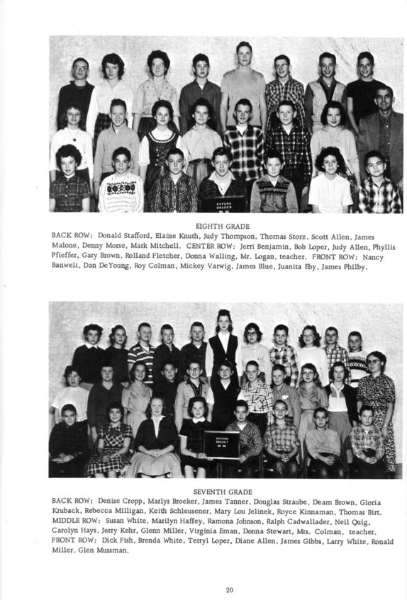 Village Auto Body >> 1960 Yearbook of Oxford High School, Oxford, Nebraska