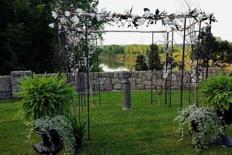 Wedding Ceremony Arch in MN Three Rivers Park District