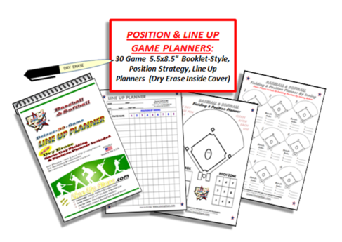 Baseball & Softball Line Up Planning Booklet