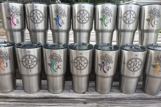 Bridesmaids and Groomsmen's Customized Stainless Tumblers