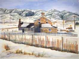 Park City, Utah, Tracy Harris Watercolor Artist, Limited Edition Giclee Available