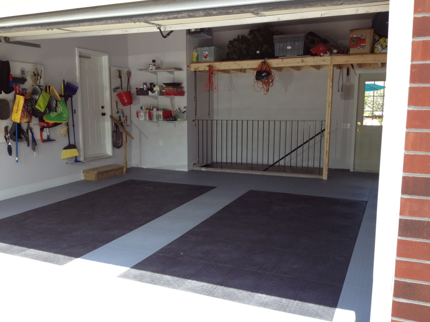 Rubber garage floor tile attractive home design garage floor tiles garage floor finishes summit rubber dailygadgetfo Image collections