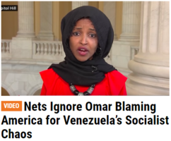 Ilhan Omar Blames America, Not Socialism, for Venezuela's Problems; Media Ignore barr trump