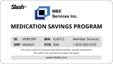 mbeRx.com - Free Rx Pharmacy Discount Card