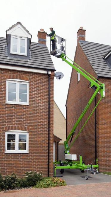 Roof repairs with a Nifty 120T Cherry Picker, hire Colchester, Essex