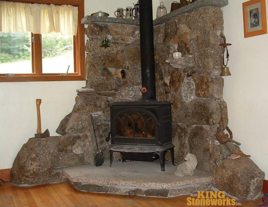 fireplace and chimney.  Chimney and Fireplace