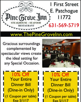 Pine Grove Inn Restaurant Patchogue Coupons