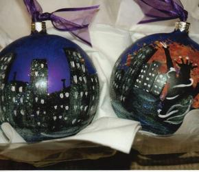 Custom Painted Ornaments Hand Painted Christmas Ornaments