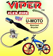 MOTORIZED BIKE 2-STROKE 4-STROKE 48CC 49CC 50CC 66CC 80CC MOTORIZED BIKE KIT PARTS PERFORMANCE PIPE EXHAUST