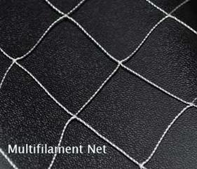 closeup of nylon multifilament netting