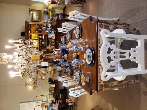antique vintage dining room table custom chairs available