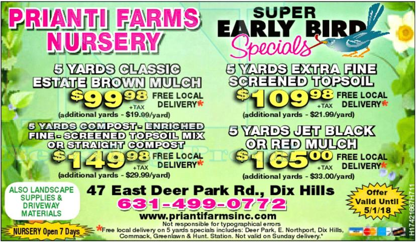 Prianti Firewood Mulch Soil Delivery Seasoned Long Island Special Sale