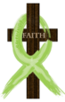 Lime Green Painted Ribbon Lymphoma Designs