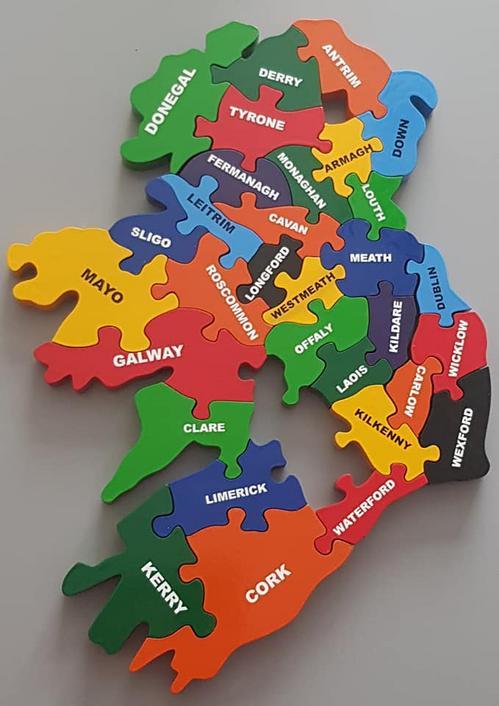 32 County Map Of Ireland.32 County Challenge