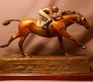 Gallery of bronze thoroughbred racehorses