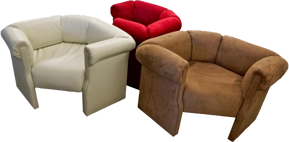 The HUGGMEE Chair Red Beige Tan